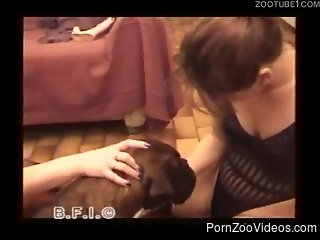 Dirty amateur women sharing a dog in their filthy zoophilia ho...